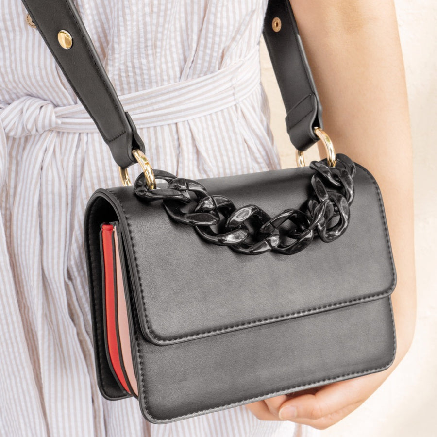 Vicky Black Shoulder Bag