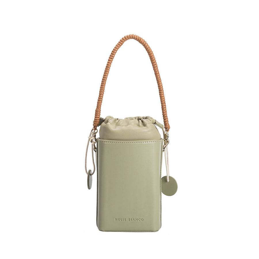 Melie Bianco Poppy Luxury Vegan Leather Crossbody in Mint