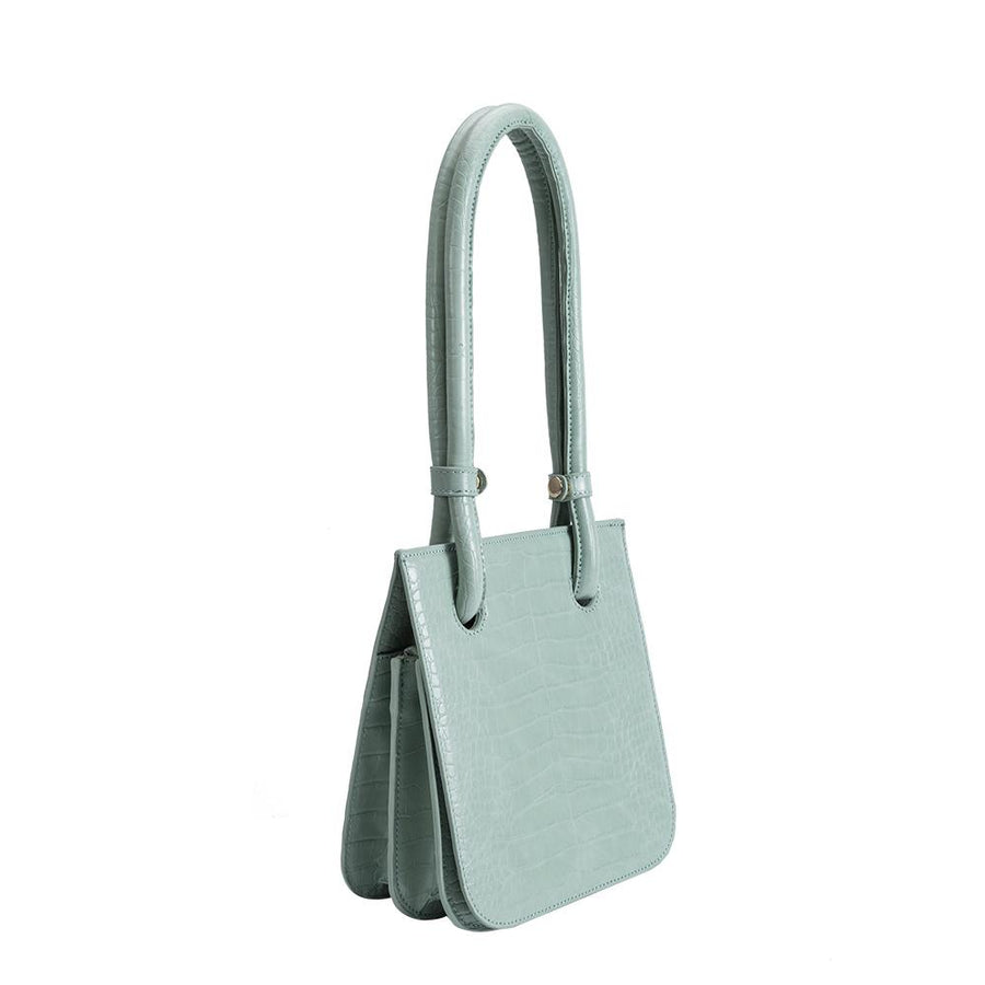 Melie Bianco Luxury Vegan Leather Taryn Shoulder Bag in Mint