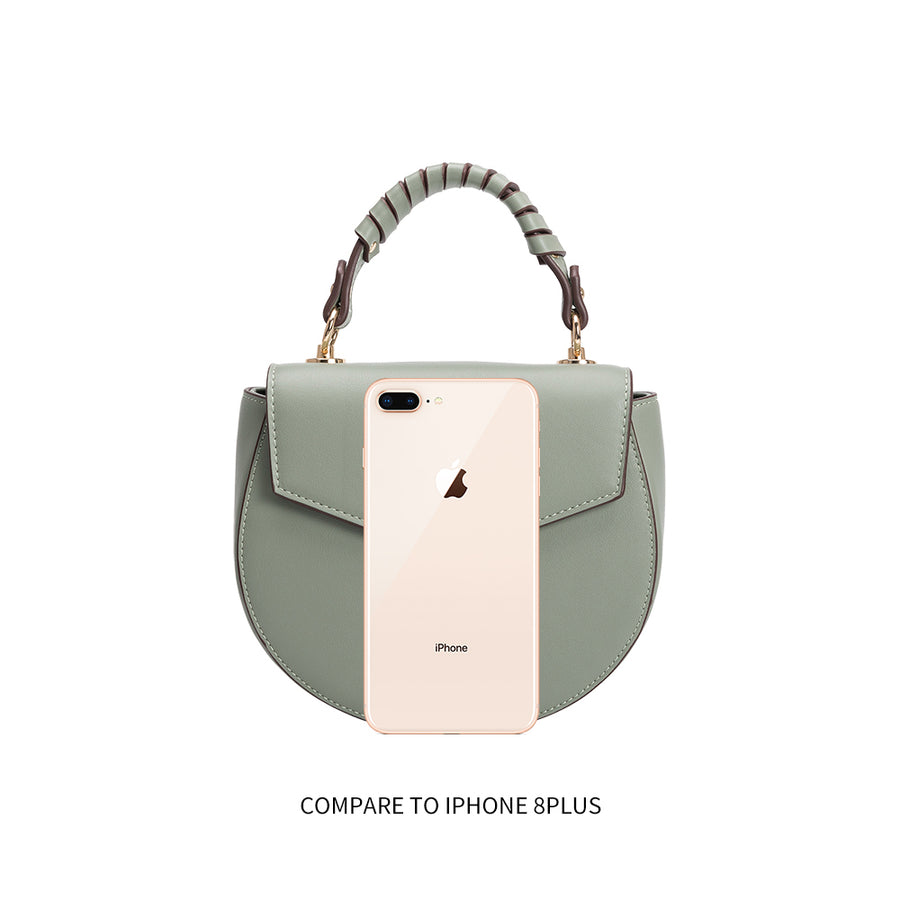 Melie Bianco Luxury Vegan Leather Mandy Crossbody Bag in Mint