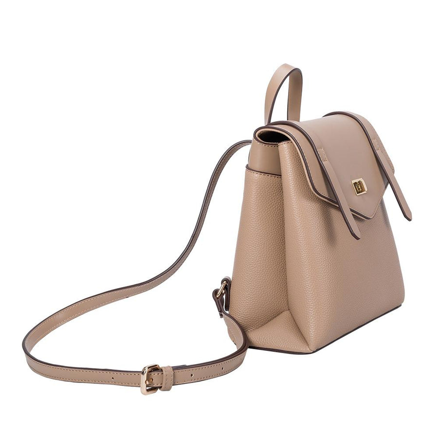 Melie Bianco Luxury Vegan Leather Maxine Backpack in Tan