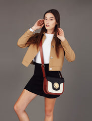 Patricia Three Tone 70's Crossbody (U1052) - Melie Bianco - 9
