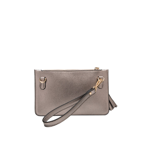 Farah Pewter Mini Crossbody