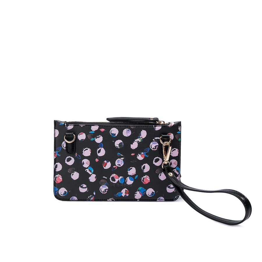 Melie Bianco Luxury Vegan Leather Farrah Crossbody Bag in Dots
