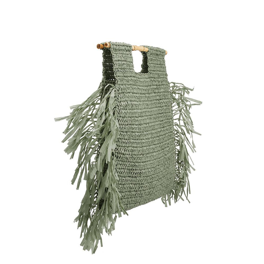 Melie Bianco Casey Eco Friendly Large Straw Tote Bag in Green