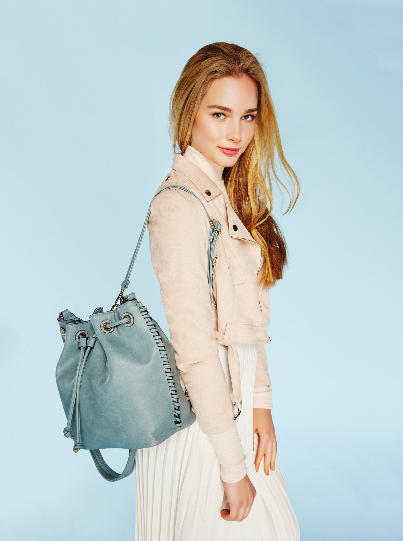 Coleen Whipstitch Backpack - Melie Bianco Handbags Accessories