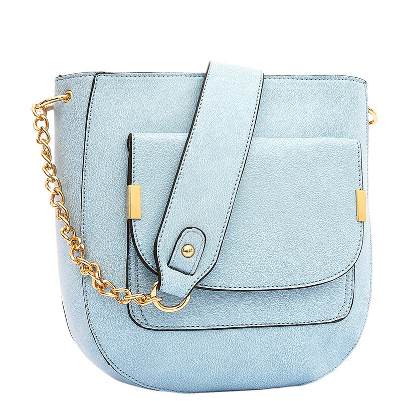 Jovie Medium Front Pocket Shoulder Bag - Melie Bianco - 1
