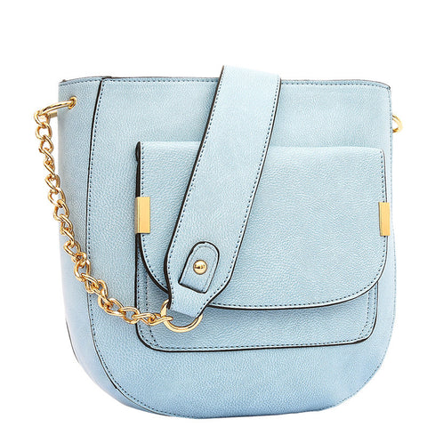 Jovie Medium Front Pocket Shoulder Bag - Melie Bianco - 7
