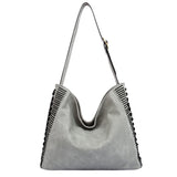 Peyton Zig Zag Large Shoulder Bag - Melie Bianco - 2