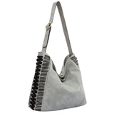 Peyton Zig Zag Large Shoulder Bag - Melie Bianco - 1