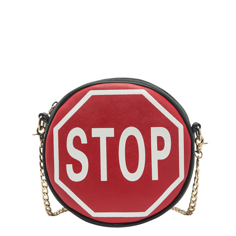 Traffic Sign Round Crossbody - Melie Bianco - 2