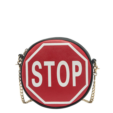 Traffic Sign Round Crossbody - Melie Bianco Handbags Accessories