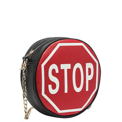Traffic Sign Round Crossbody - Melie Bianco - 1