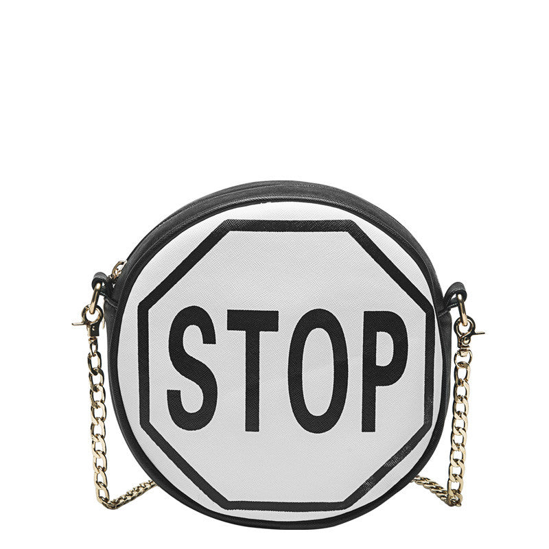 Traffic Sign Round Crossbody - Melie Bianco - 3