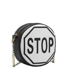Traffic Sign Round Crossbody - Melie Bianco - 7