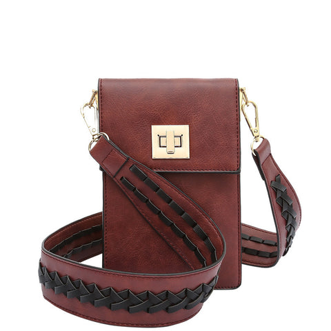 Brett Burgundy Tech Crossbody - Melie Bianco - 1