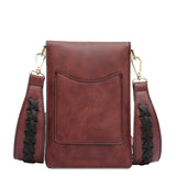 Brett Burgundy Tech Crossbody - Melie Bianco - 3