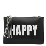 Happy Sad Flat Clutch - Melie Bianco - 1