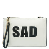 Happy Sad Flat Clutch - Melie Bianco - 2