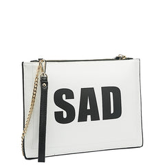Happy Sad Flat Clutch - Melie Bianco Handbags Accessories