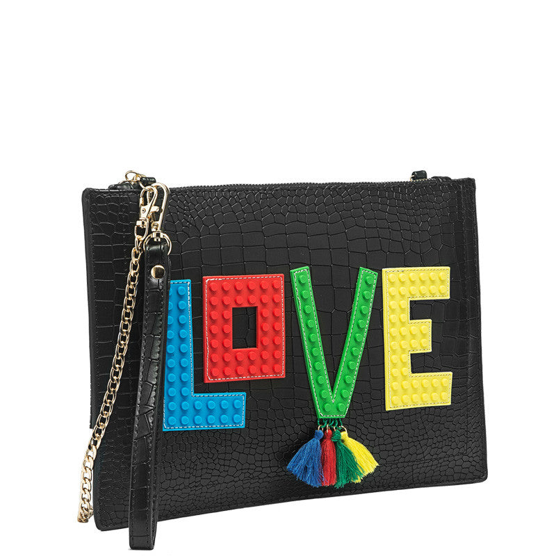 Love Flat Clutch - Melie Bianco Handbags Accessories