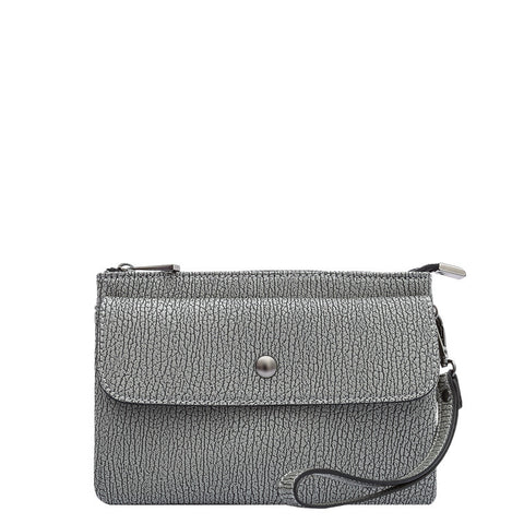 Andy Compact Gray Crossbody / Wristlet - Melie Bianco - 1