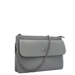 Andy Compact Gray Crossbody / Wristlet - Melie Bianco - 2