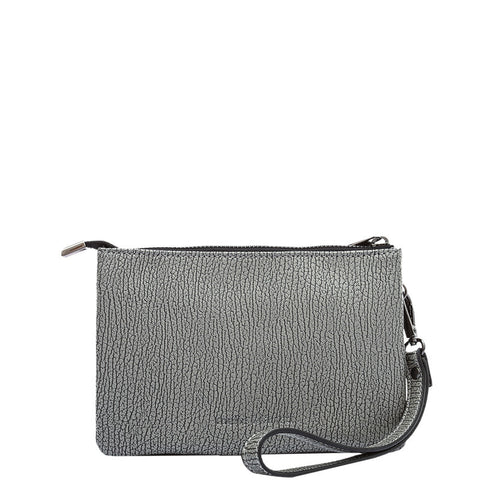 Andy Compact Gray Crossbody / Wristlet