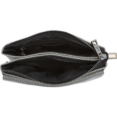 Andy Compact Gray Crossbody / Wristlet - Melie Bianco - 4