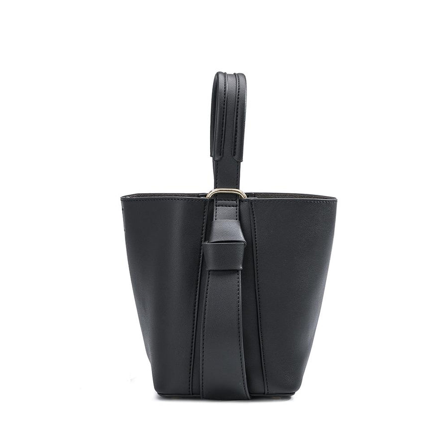 Melie Bianco Scarlett Luxury Vegan Leather Crossbody in Black