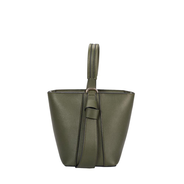 Melie Bianco Scarlett Luxury Vegan Leather Top Handle Crossbody in Olive
