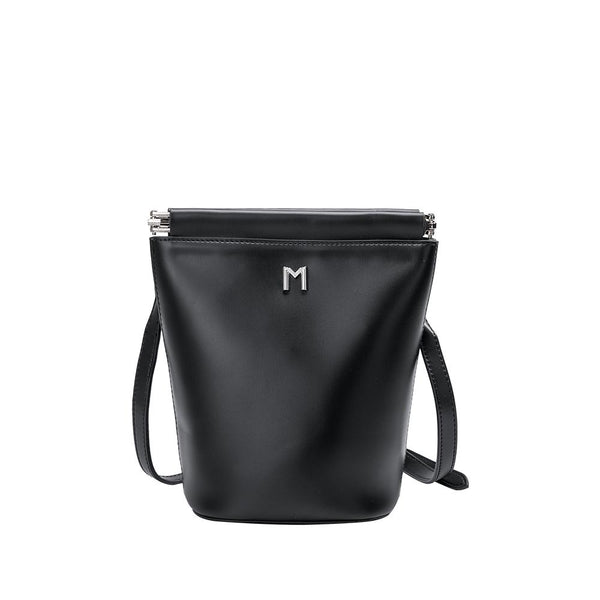 Melie Bianco Luxury Vegan Leather Tami Black Crossbody Handbag Purse