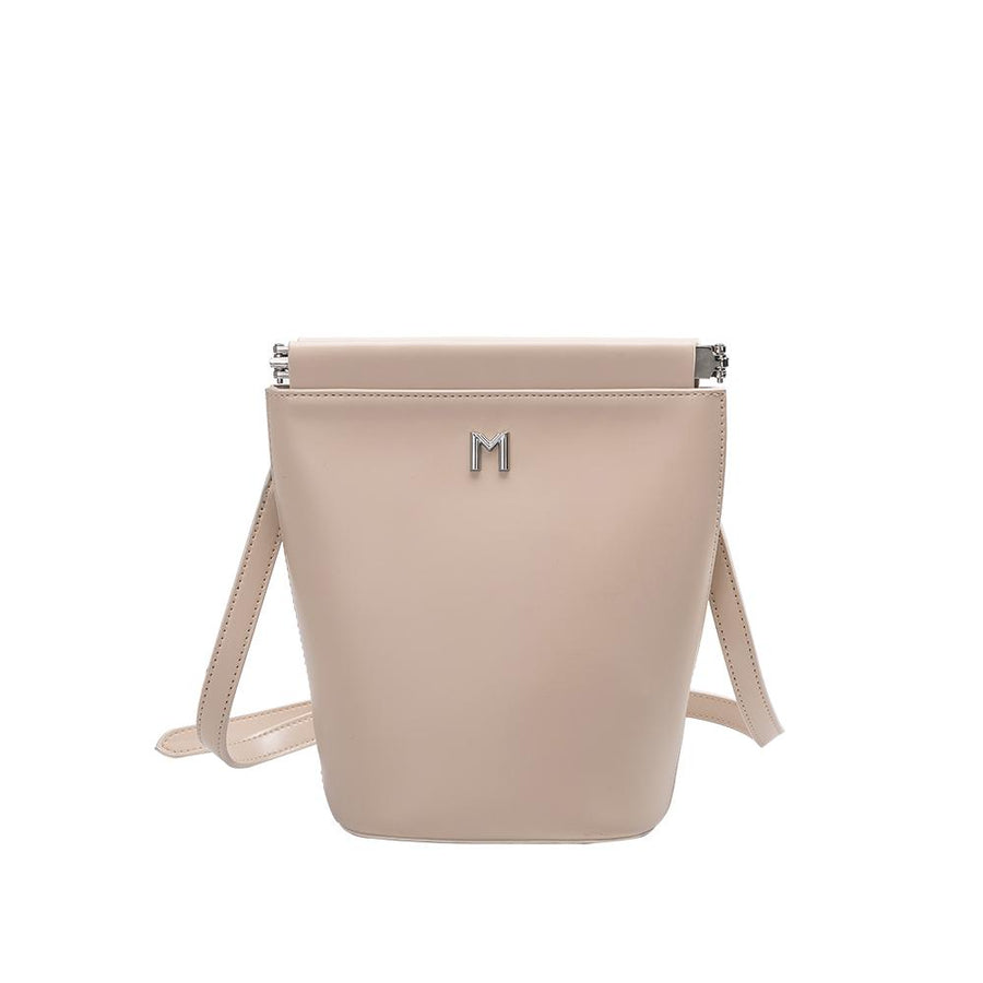 Melie Bianco Luxury Vegan Leather Tami Nude Crossbody Handbag Purse
