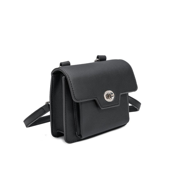 Lara Black Convertible Crossbody