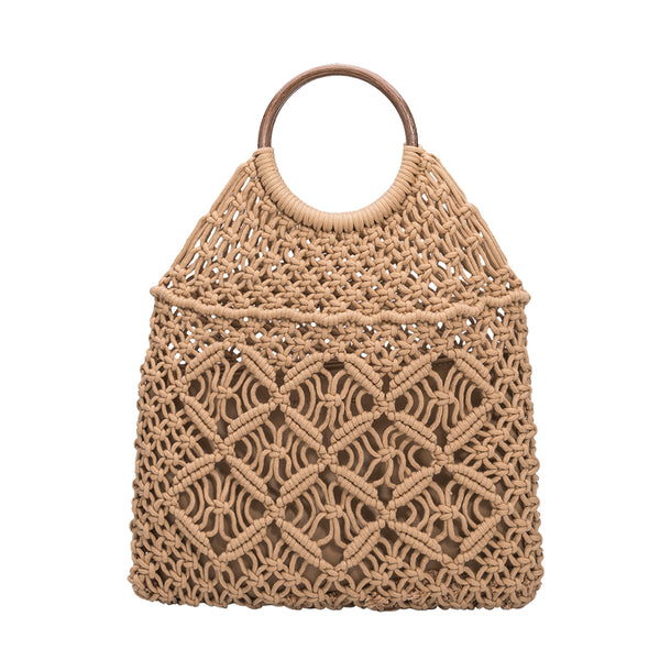 Natalie Natural Macrame Bag- FINAL SALE
