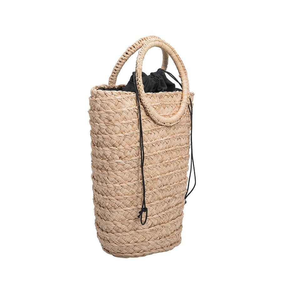 Melie Bianco Luxury Vegan Leather Tiffany Bucket Bag in Natural