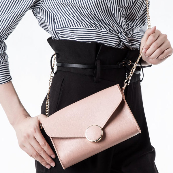 Elsa Blush Front Flap Crossbody