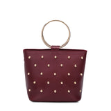 Makenzie Burgundy Studded Crossbody - FINAL SALE
