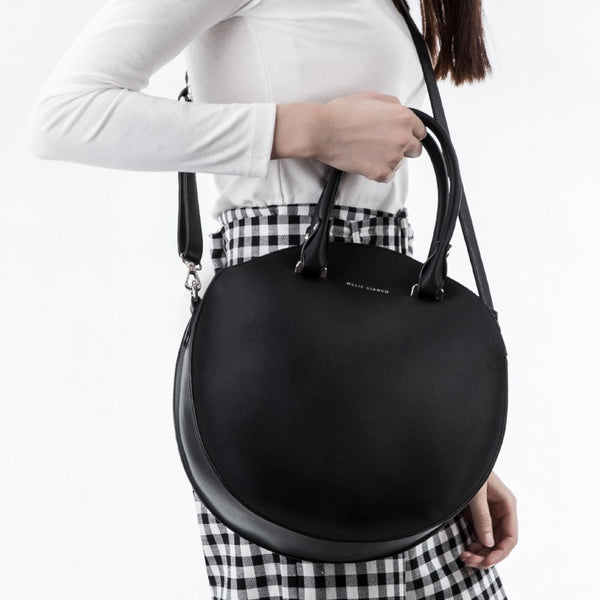 a655bc0f25cd Estee Black Circle Shoulder Bag Estee Black Circle Shoulder Bag