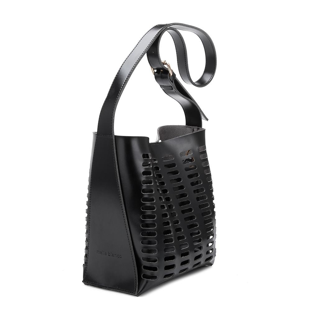 c510fbbd6d25 Mercer Black Medium Crossbody – Melie Bianco