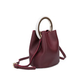 Gemma Burgundy Round Handle Crossbody