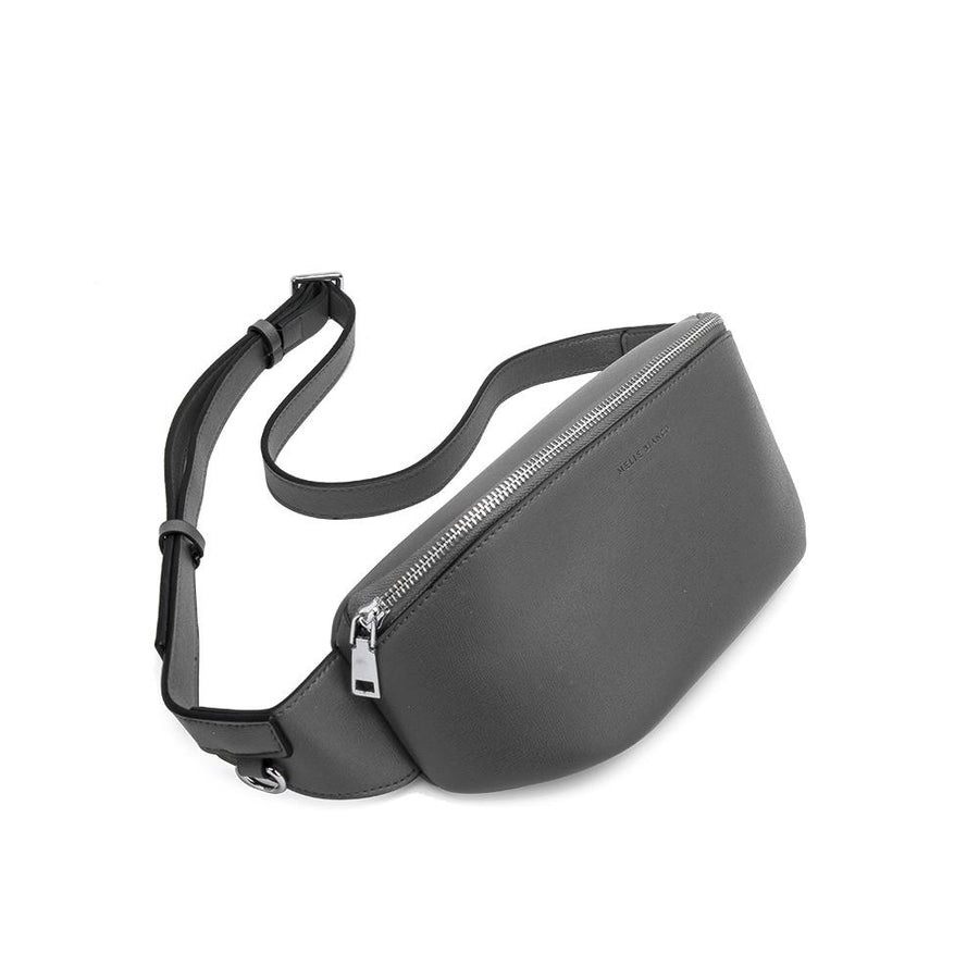 Melie Bianco Luxury Vegan Leather Jenna Belt Bag in Gray