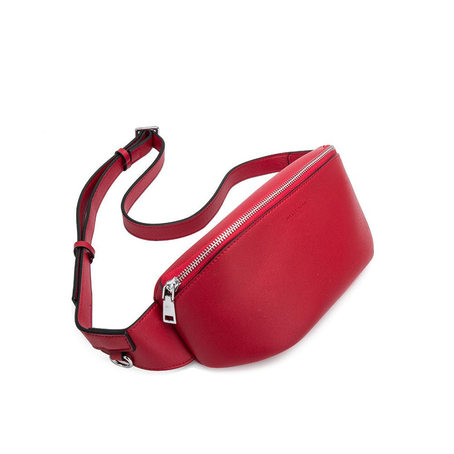 Melie Bianco Luxury Vegan Leather Jenna Belt Bag in Red
