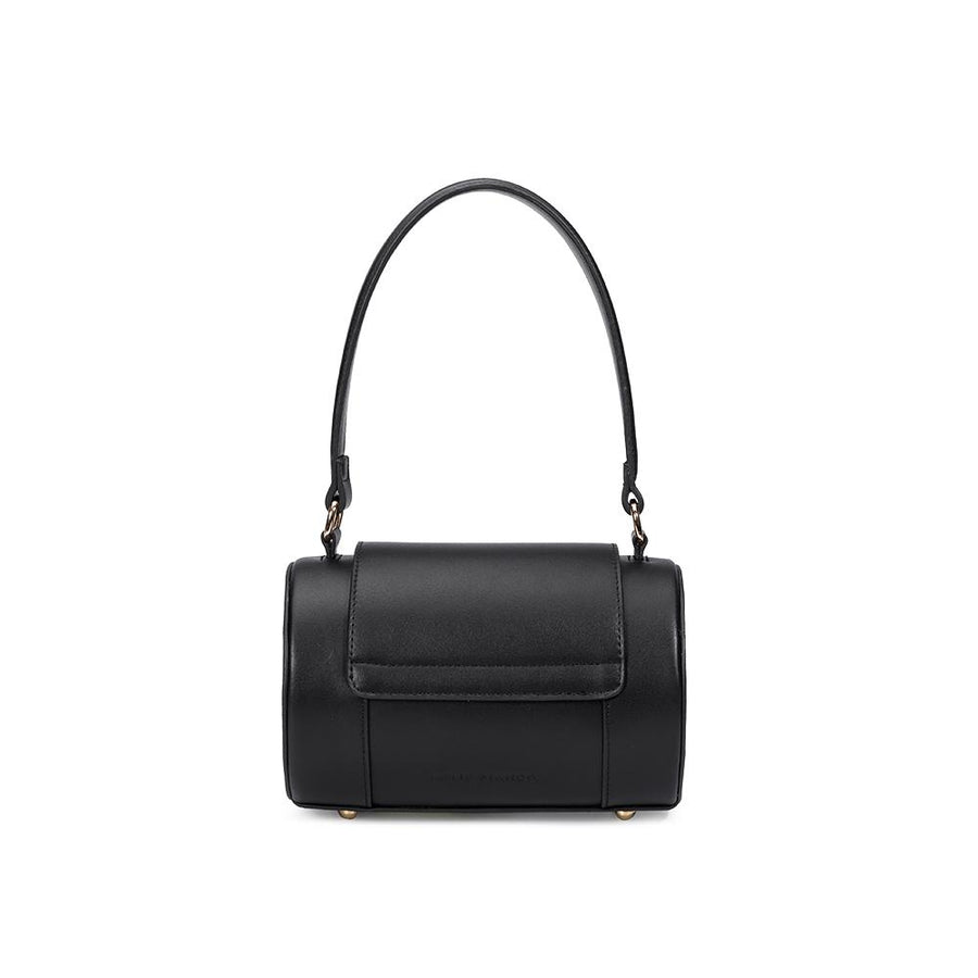 Melie Bianco Brooke Luxury Vegan Leather Top Handle Crossbody in Black