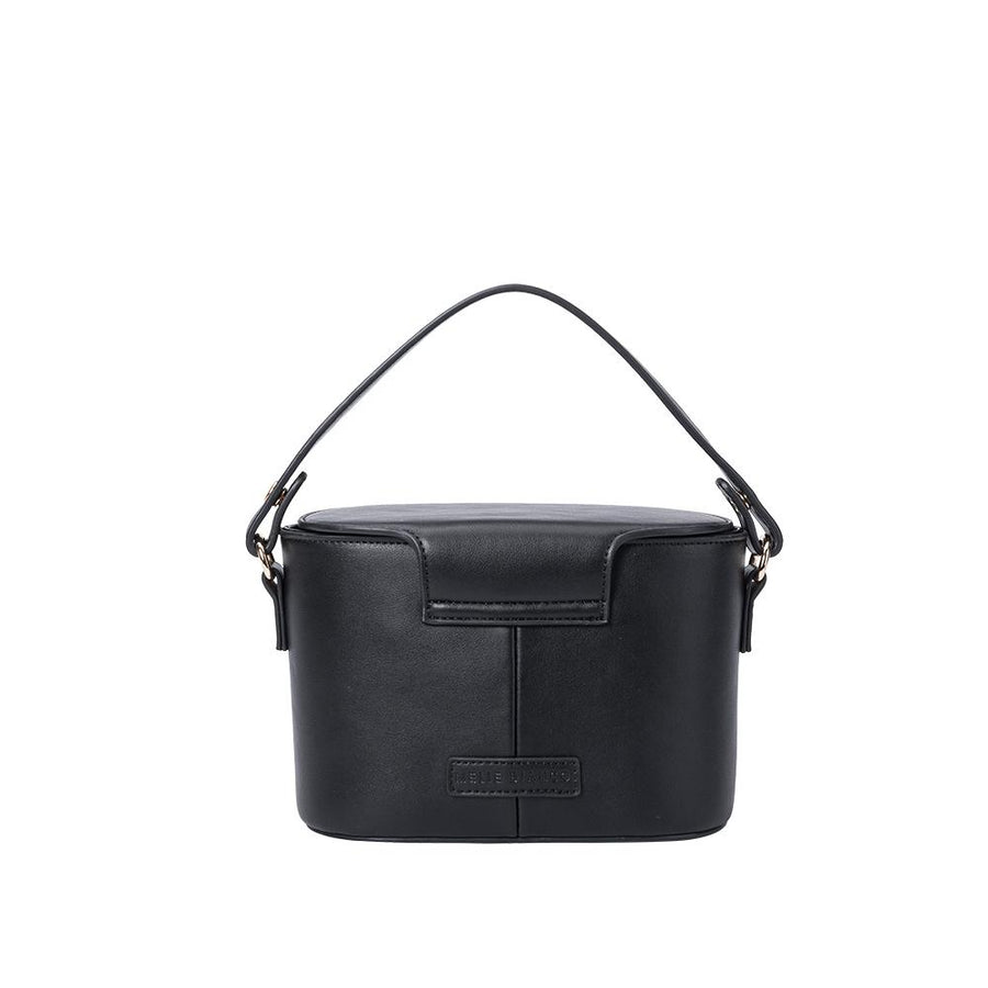 Melie Bianco Luxury Vegan Leather Adelynn Crossbody Bag in Black