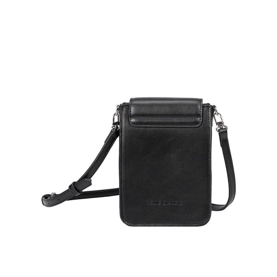 Melie Bianco Jesse Luxury Vegan Leather Crossbody in Black