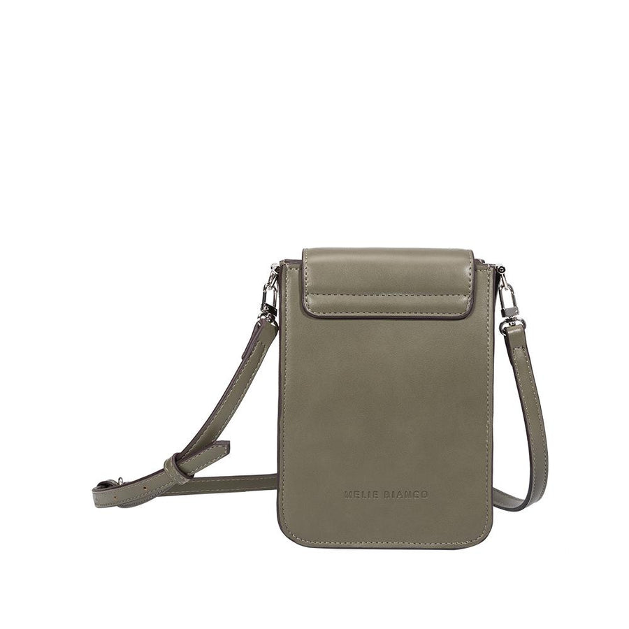 Melie Bianco Luxury Vegan Leather Jesse Crossbody Bag in Olive