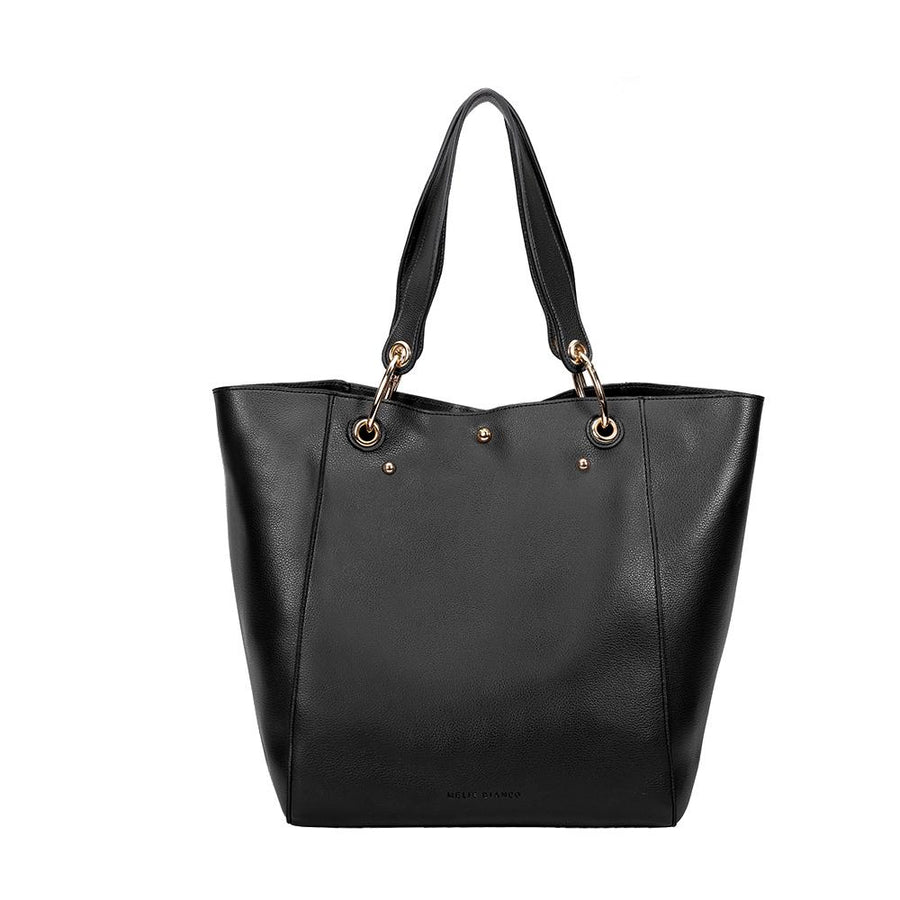 Melie Bianco Skylar Luxury Vegan Leather Tote in Black