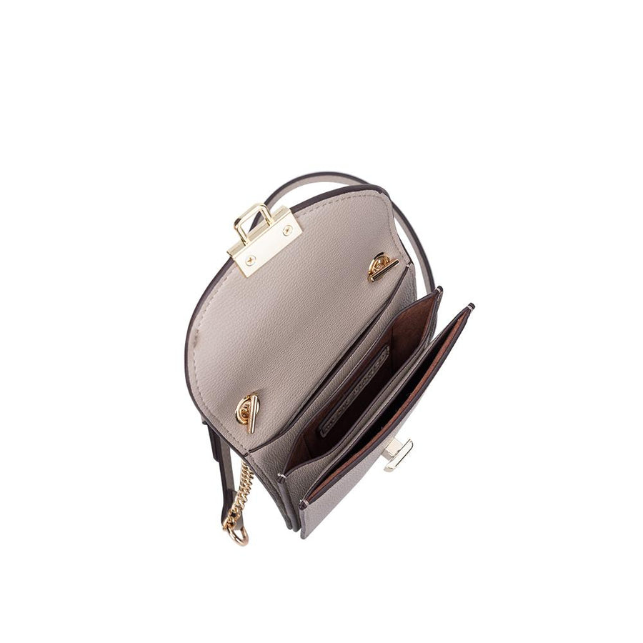 Melie Bianco Nina Luxury Vegan Leather Crossbody in Taupe