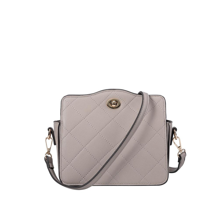Melie Bianco Miley Luxury Vegan Leather Crossbody in Taupe